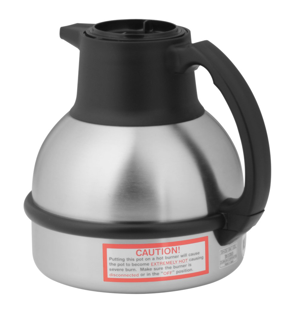 BUNN 36029.0001 Zojirushi 64 oz. Stainless Steel Deluxe Thermal Carafe with Black Top by BUNN