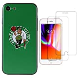 Sportula NBA Phone Case give 2 Tempered Glass Screen Protectors - Extra Value Kit for iPhone 8 / iPhone 7 (Boston Celtics)