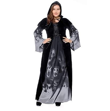 Amazon Keepmoving Women Plus Size Halloween Skull Costume Witch