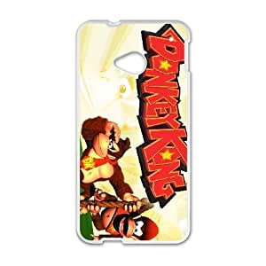 HTC One M7 Cell Phone Case White Super Smash Bros Donkey Kong ISU536155