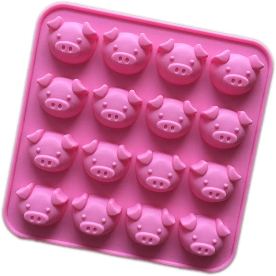 Longzang 16 Cavity Pig Silicone mold for Candy Chocolate Cake Jelly (XJ564)
