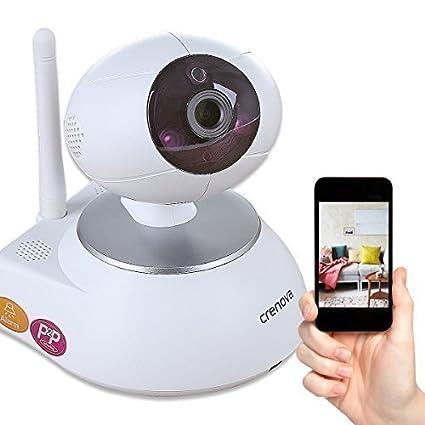 Crenova® Nueva Versión PT100A Cámara IP HD 720P WIFI de Vigilancia con Visión Nocturna PTZ