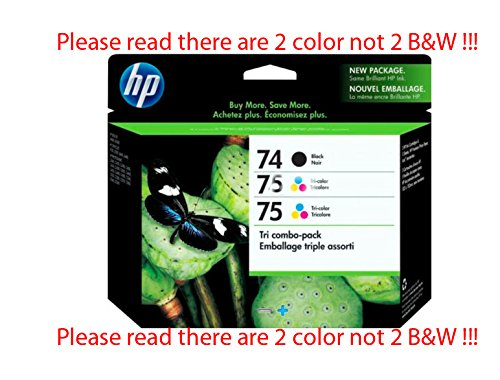 Genuine Hewlett Packard 74/74/75 Threepack Combo CD976FN Electronics (Photosmart C4580 Hp Ink)