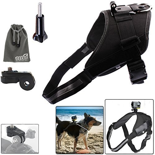 EEEKit Dog Mount Kit for Sony Action Cam HDR-AS200VR/AS20/AS100V/AS30/AZ1 Mini,Sony FDR-X1000V/W 4K,Dog Harness Chest Back Mount and Release Plate