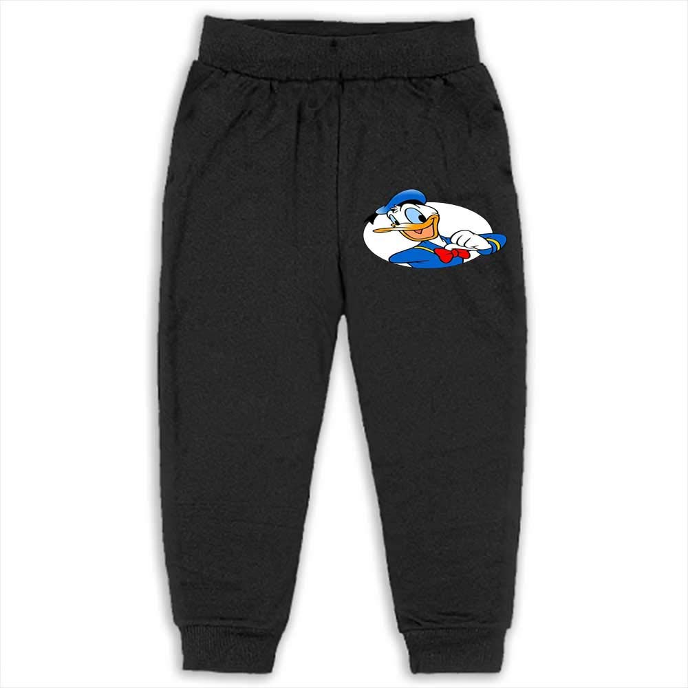 Kids Pants Baby Boys Casual Trousers Clothing Donald Duck 5T/6T_Black