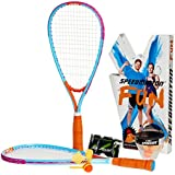Speedminton SM01-FUN-10 Fun Set - Alternative to Beach Ball, Spike Ball, Badminton, incl. 1 Heli one Fun Speeder, Perfect The Beach, Park Backyard