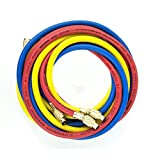 #8: Wisepick 3 Colors AC Charging Hoses Tube for R134a Air Conditioning Refrigerant 1/4