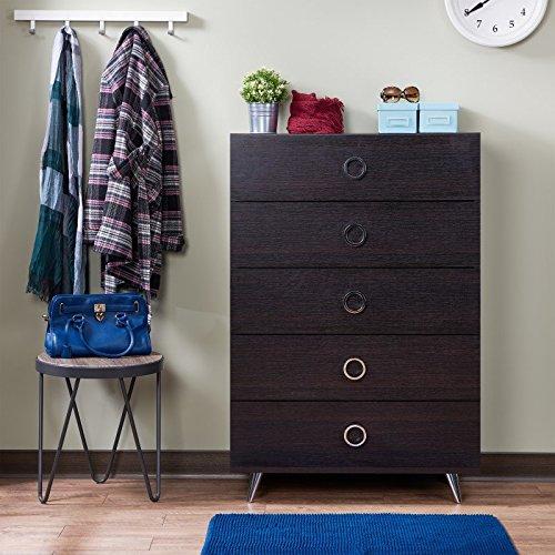 Acme Furniture 97372 Elms Chest, Espresso/Chrome