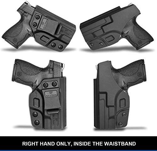 M&P Shield 9mm Holster, IWB Polymer Concealed Carry M&P Shield Holster for M&P Shield .40 3.1'' |Smith and Wesson M&P Shield 9mm Accessories | Adj. Cant & Retention | Gun Holsters