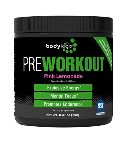 Bodylogix Pre-Workout Supplement, Pink Lemonade, 240 Gram