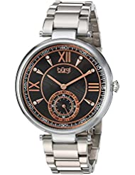 Burgi Womens Quartz Stainless Steel Casual Watch, Color:Silver-Toned (Model: BUR175SSB)