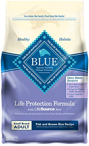 Blue Buffalo Life Protection Formula Natural Adult Small Breed Dry Dog Food, Fish and Brown Rice 6-lb