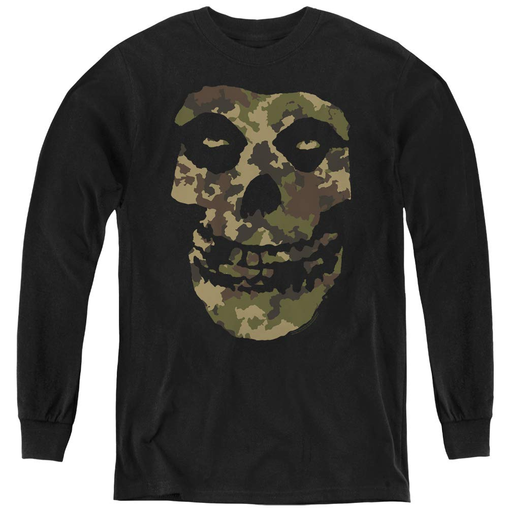 Trevco Misfits Camo Skull Youth Long Sleeve T Shirt