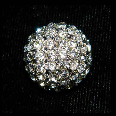 #15613 - Round Pave Domed Button - 5/8