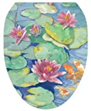 Toilet Tattoos TT-1029-O Lily Pad Design Toilet Seat Applique, Elongated