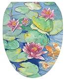 Toilet Tattoos TT-1029-O Lily Pad Design Toilet