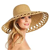 Eric Javits Luxury Fashion Designer Women's Headwear Hat - Maribel - Natural