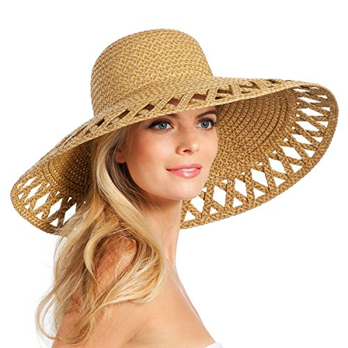Eric Javits Luxury Fashion Designer Women's Headwear Hat - Maribel - Natural by Eric Javits