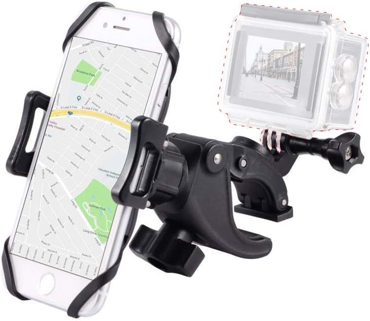 S9 Galaxy S10 Holds Phone Up to 3.7 Wide-Support Install Gopro 8 8 Plus Compatible with iPhone SE S8 Bike/&Motorcycle Phone Mount with Gopro Screw Mount 6s Plus 7 11,X |XR |XS 7 Plus