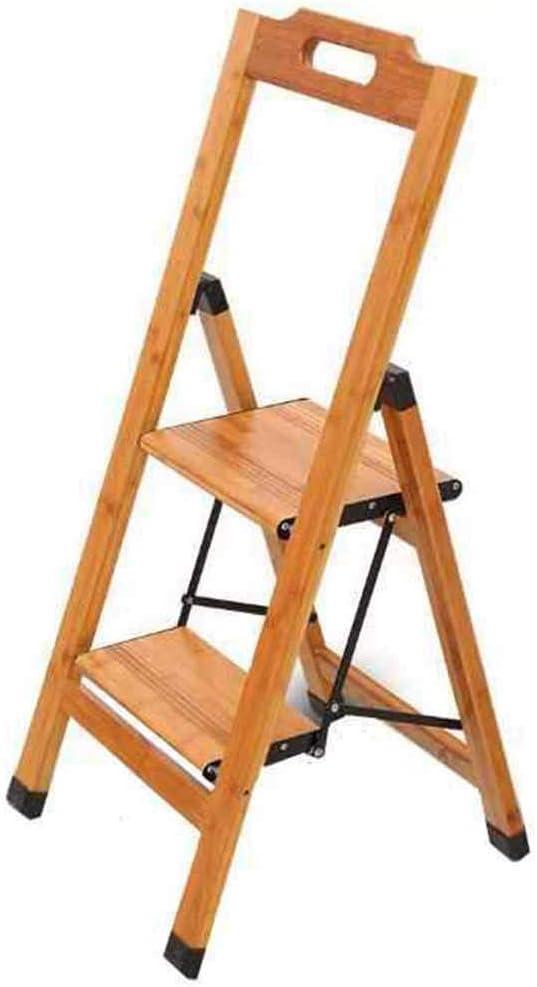 Cxjff - Escalera Plegable de 2 peldaños con Soporte para Flor, Escalera de Madera de bambú, Soporte para Taburete de Seguridad, 150 kg: Amazon.es: Hogar