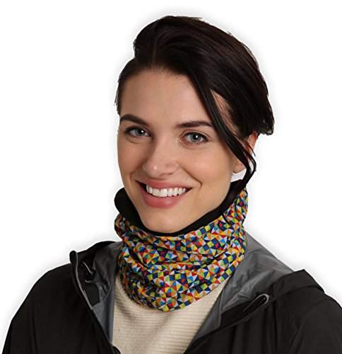 (Fleece Neck Warmer [Prints] - Reversible Neck Gaiter Tube, Ear Warmer Headband, Mask & Beanie. Ultimate Thermal Retention, Versatility & Style. Constructed with Performance Comfort Fleece &)