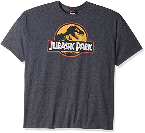 - Jurassic Park Men's T-Shirt, Charcoal Heather, XX-Large