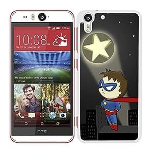Funda carcasa para HTC Desire Eye M910X diseño superhéroe borde blanco