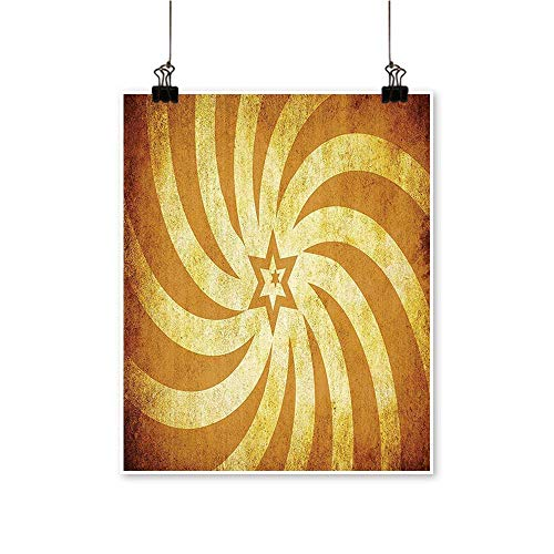 Modern Painting Spiral Twisty Lines Look Like Sun Rays Around A Centered Star Stained Bedroom Office Wall Art Home,24