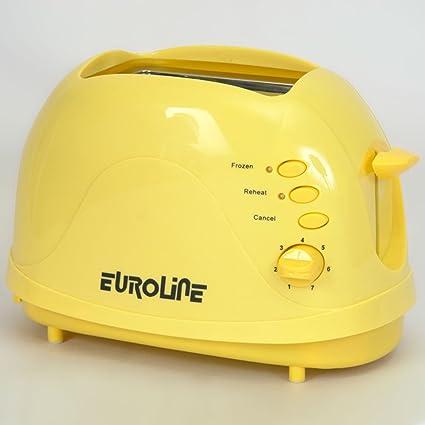 Euroline Stainless Steel 2 Slice Pop-up Toaster
