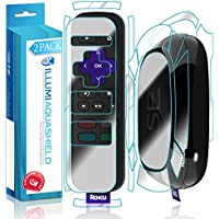 Roku SE Screen Protector + Back Cover (2-Pack), ILLUMI AquaShield Full Coverage Back and Front Screen Protector for Roku SE HD Clear Anti-Bubble Film