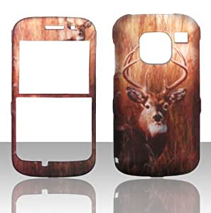 Best-Diy 2D Buck Deer Nokia Straight Talk E5 3G Smart cell phone case cover Hard cell phone case cover Snap-on Cover Rubberized Touch Faceplates 7XYove5wWjt