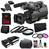 Sony HXR-MC2500 Shoulder Mount AVCHD Camcorder + NP-F970 Replacement Lithium Ion Battery+ 32GB SDHC Class 10 Memory Card + 37mm 3 Piece Filter + 37mm Macro Close Up + XL Rugged Camcorder Case + SDHC Card USB Reader + Memory Card Wallet + Deluxe Starter Bu