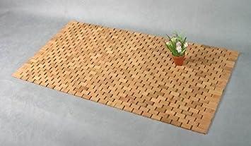 fußmatte bambus maße: 90 x 50 x 0,7 cm: amazon.de: küche & haushalt - Fußmatte Küche