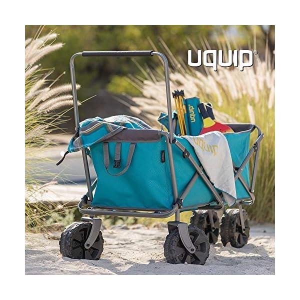 Uquip Beach Buddy - Carrello da Spiaggia Pieghevole con capacità Fino a 100 kg 5 spesavip