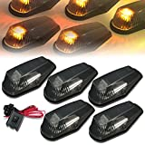 1996 f250 cab lights - Ford F150-F450 5 X LED Cab Roof Top Lights + Wiring Harness + Switch (Smoked Housing Yellow LED)