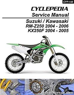 CPP-148-P Suzuki RM-Z250 Kawasaki KX250F Cyclepedia Printed Motorcycle Service Manual
