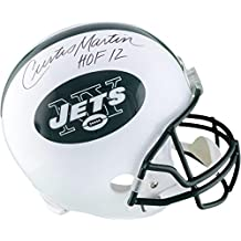 """Curtis Martin New York Jets Autographed Riddell Replica Helmet with """"HOF 2012"""" Inscription - Fanatics Authentic Certified"""
