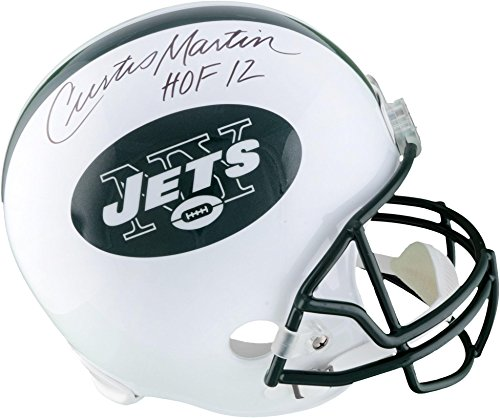 Curtis Martin New York Jets Autographed Riddell Replica Helmet with