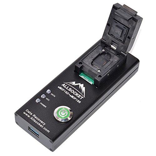 BGA162 Flash Memory Chip-off Tool[ALLSOCKET]eMCP162/186-USB3.0 Reader FBGA162/186 KMK2U000VM-B604 Memory Retrieve SMS…