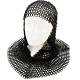 PAN001 Medieval Black Chain Mail Coif
