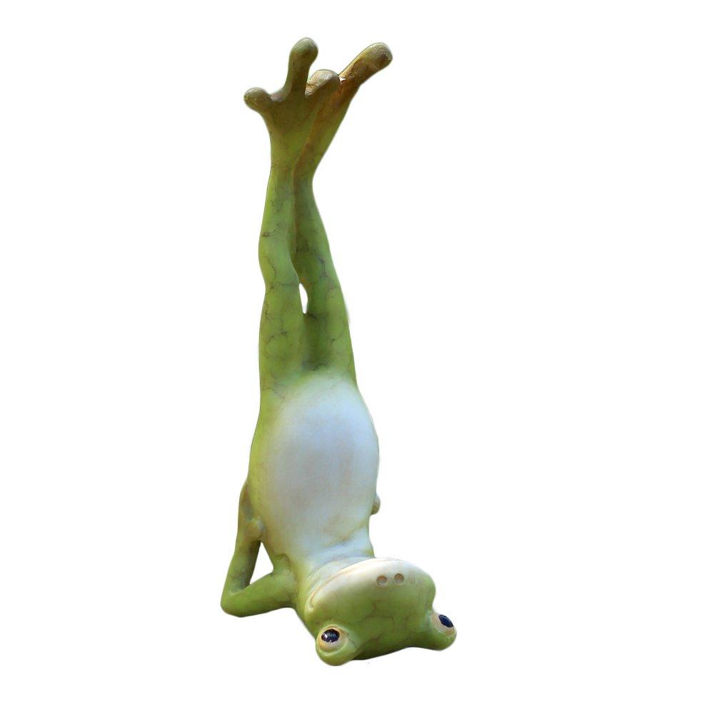 Top Collection Miniature Fairy Garden and Terrarium Yoga Frog Salamba Sarvangasana Shoulder Stand Pose