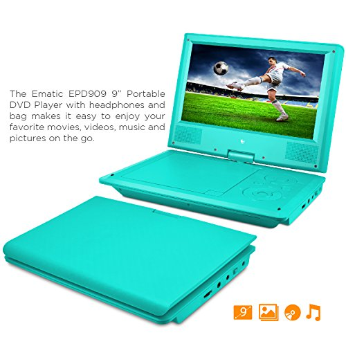 "9"" Dvd Player Bundle Teal ""Prod. Type: Dvd Players & Recorde"