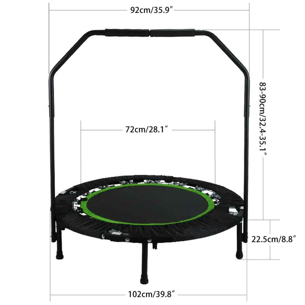 ANCHEER Foldable 40'' Mini Trampoline Rebounder, Max Load 300lbs Rebounder Trampoline Exercise Fitness Trampoline for Indoor/Garden/Workout Cardio by ANCHEER (Image #3)