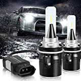 LinkStyle 9006 LED Headlight Bulbs Replacement with Canbus-Ready Decoder 6000k, High and Low Beam Car Headlights Conversion Kit Csp Chip Led Fog Lights 7200 Lumen IP68 Waterproof