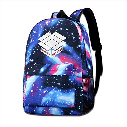 Galaxy Printed Shoulders Bag Se7en Whats In The Box Minimal Fashion Casual Star Sky Backpack For Boys&girls
