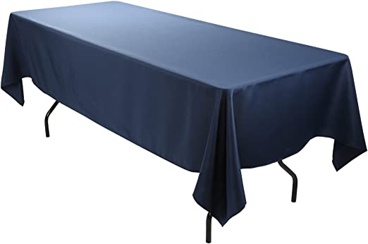E-TEX Rectangle Tablecloth 60 x 102 Inch Rectangular Table Cloth for 6 Foot in