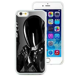 Beautiful Designed Antiskid Cover Case For iPhone 6 4.7 Inch TPU Phone Case With Daft Punk Shiny Helmet Black Costume_White Phone Case