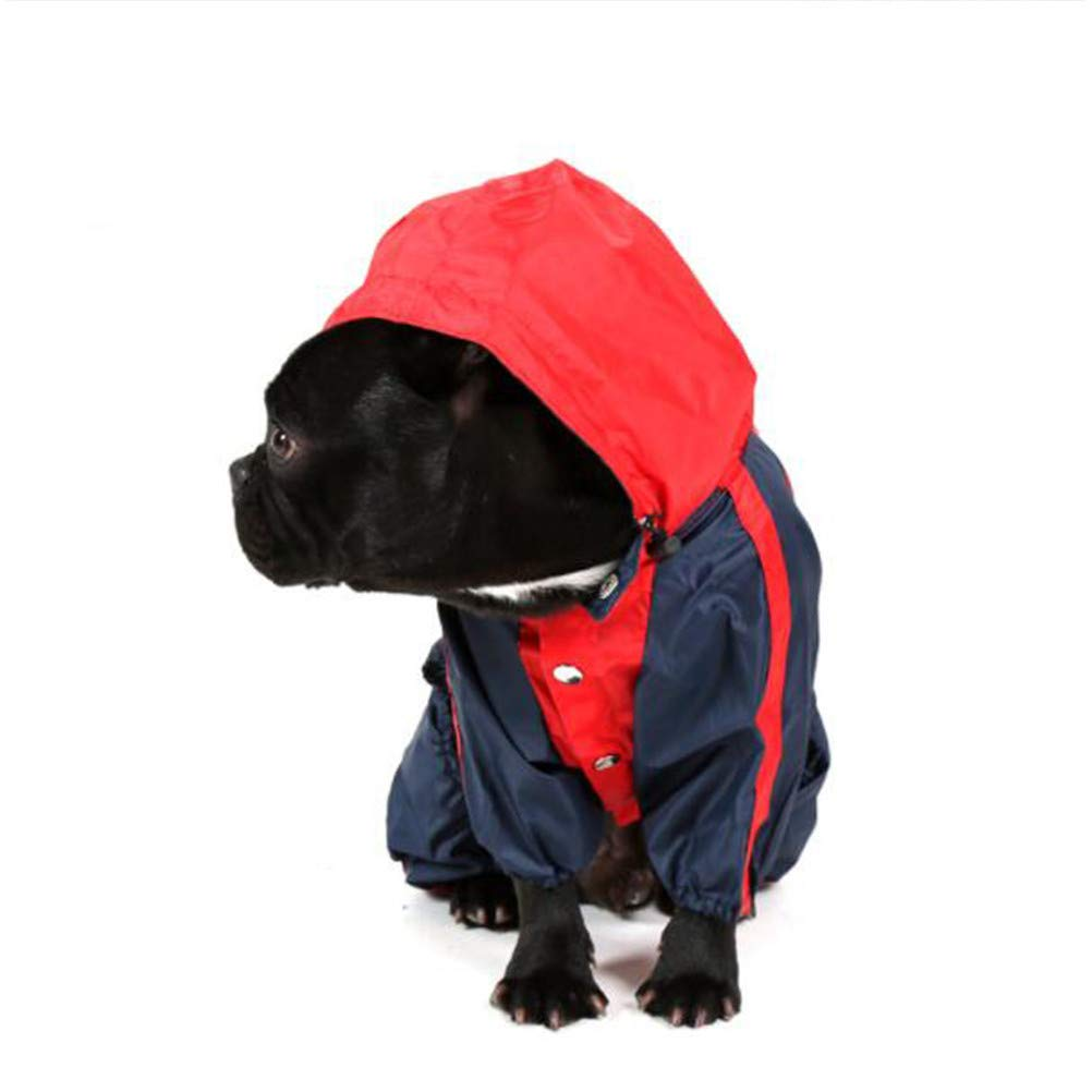 Red X-Small Red X-Small Pet Poncho, Waterproof Rainproof Snow Poncho, Trendy Leisure Hoodie Jumpsuit Raincoat Dog Cat