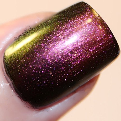 Multichrome Shade Shifter Multi-Color Shifting Polish: Custom-Blended Glitter Nail Polish / Indie Lacquer - Sea Glass - FREE SHIPPING