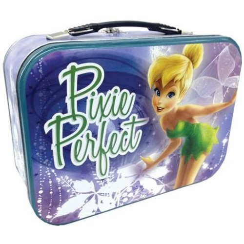 WL SS-WL-18561, 10 Inch Tinker Bell Pixie Perfect Design Collectible Tin Tote 10